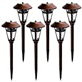 GIGALUMI Solar Pathway Lights Outdoor, 6 Pack Super Bright 30 LUMEN Solar Powered LED Garden Lights for Lawn, Patio, Yard.