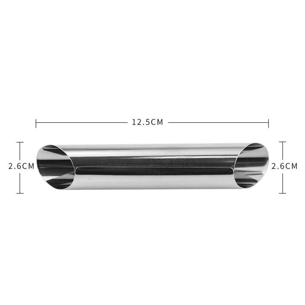 Sdkmah9 12 Unidades de Tubos de Acero Inoxidable con Forma de Cannoli, Molde de Rollo de Crema, Revestimiento Antiadherente, Forma Diagonal - 12,7 cm: ...