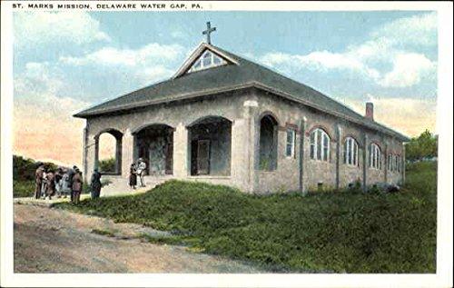 st-marks-mission-delaware-water-gap-pennsylvania-original-vintage-postcard