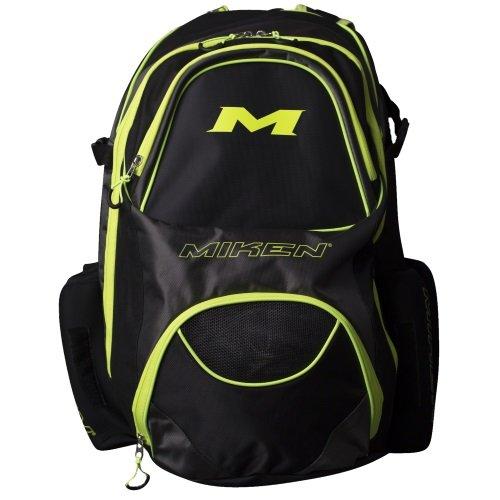Miken XL mkbg18-xl Baseball / Softballバックパック B079H49XDL Black/Charcoal/Green Black/Charcoal/Green