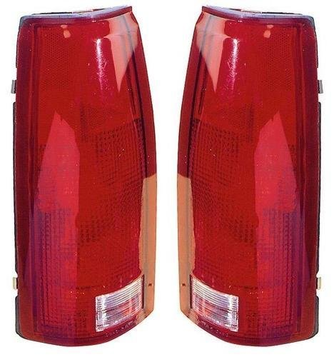 Go-Parts PAIR/SET OE Replacement for 1992-1999 Chevrolet (Chevy) Suburban Rear Tail Lights Lamps Assemblies/Lens / Cover - Left & Right (Driver & Passenger) for Chevrolet Suburban Blazer Tail Lights Cover