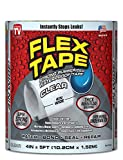 Flex Tape Rubberized Waterproof Tape, 4'' x 5', Clear