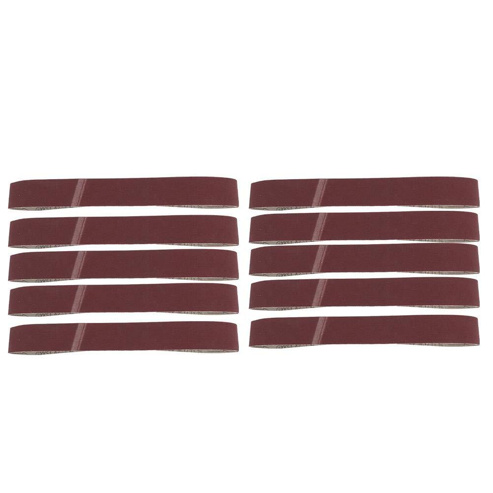 10PCS 320-600Grit GXK51-B Alumina Abrasive Belt Sanding Band for Wood Furniture Grinding Polishing 320#