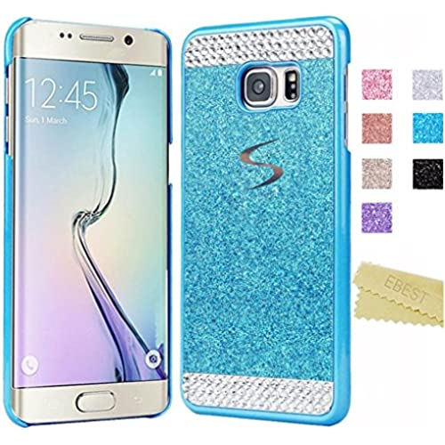 Galaxy S7 Edge Glitter Case(EB16001), Ebest Handmade Bling Crystal Rhinestone Hard Plastic Glitter Cover Case For Samsung Galaxy S7 Edge, Blue with Bling Sales