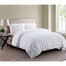 VCNY Home Madison 2 Piece Microfiber Duvet Cover Set, ULTRA SOFT Duvet Cover, Wrinkle Resistant Bed Set, Twin/Twin XL, White