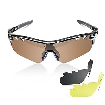 592d100ea0 newboler deportes gafas de sol con 3 lentes intercambiables polarizadas  para hombres mujeres Pesca canotaje gafas para el sol: Amazon.es: Deportes  y aire ...