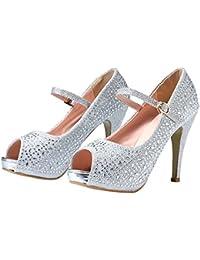 Open Toe Mary Jane High Heel Shoes