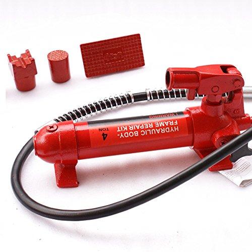 F2C 4 Ton Capacity Porta Power Hydraulic Bottle Jack ram Pump Auto Body Frame Repair Tool Kit Power Set Auto Tool for Automotive, Truck, Farm and Heavy Equipment/Construction (4Ton Set) by F2C (Image #3)