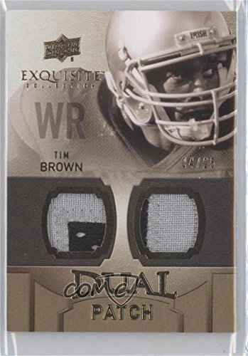 Tim Brown #4/25 (Football Card) 2010 Upper Deck Exquisite Collection - [???] #EDP-TB ()