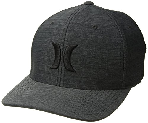 Hurley Men's Black Textures Baseball Cap, Streak, L-XL (Hurley Hat Embroidered)