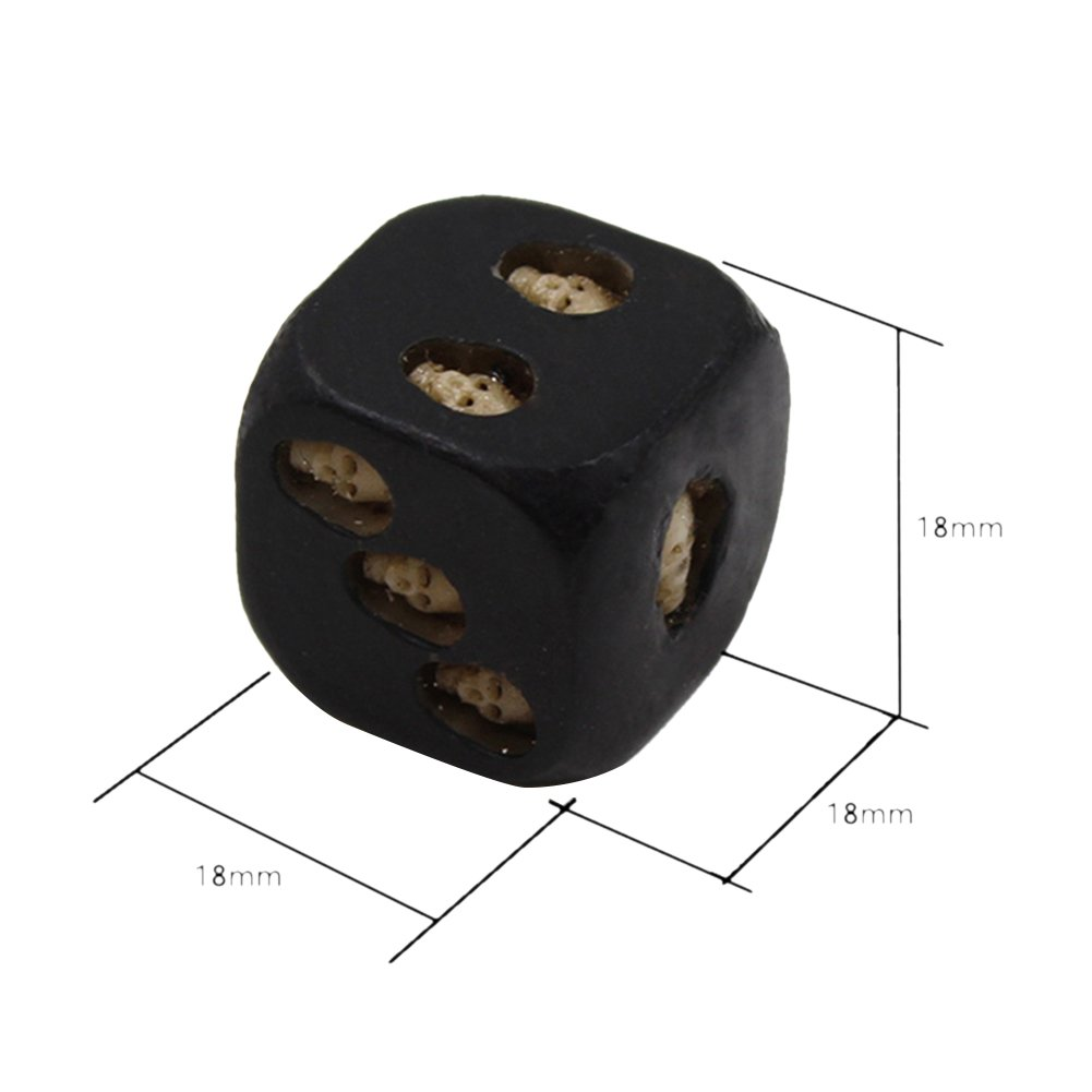 Novelty Toy Set of Five Black Resin Skull Dice Dice Activity Game Toy HY