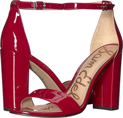 (Sam Edelman Women's Yaro Heeled Sandal, Dark Cherry Patent, 9.5 W US)