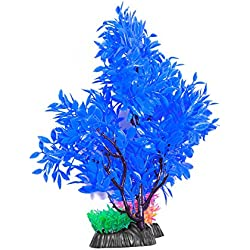 UEETEK Aquarium Decorative Plastic Plant Artificial Stand Fish Tank Aquarium Landscape Decor Plant Trees Ornament (T904)