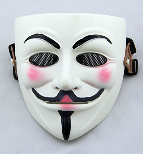 Gmasking Movie V for Vendetta Guy Fawkes Anonymous Airsoft Paintball Halloween Mask (Anonymous Paintball Mask)