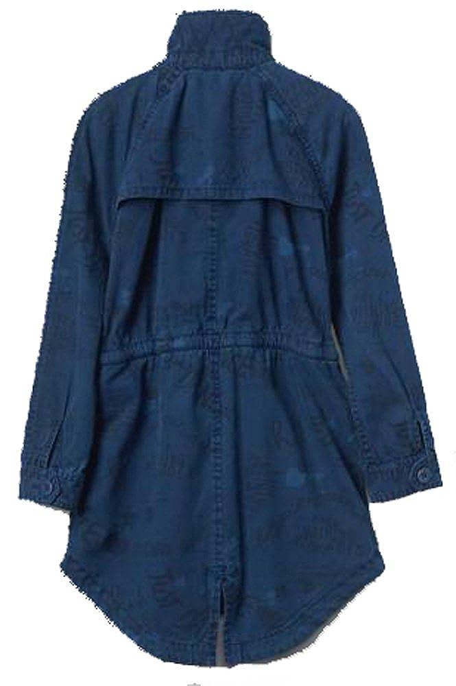 Amazon Com Gap Kids Girls Blue Statement Dance Trench Jacket Xs 4 5