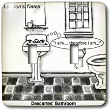 lsp_1662_2 Londons Times Funny Society Cartoons - Descartes Bathroom - Light Switch Covers - double toggle switch
