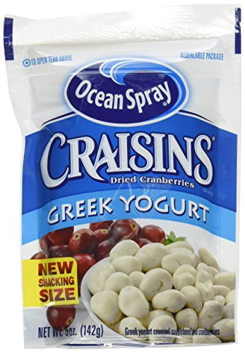 Ocean Spray Craisins Dried Cranberries, Greek Yogurt Covered, 5 Ounce (Pack of 12) (Blueberry Yogurt Covered Raisins)