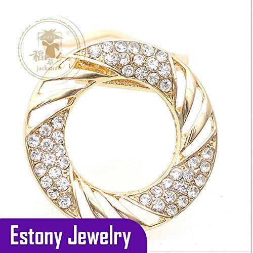 [Estony Wedding Costume Scarf Buckle Brooch Clips Pin For Women] (Van Cleef Arpels Costume Jewelry)