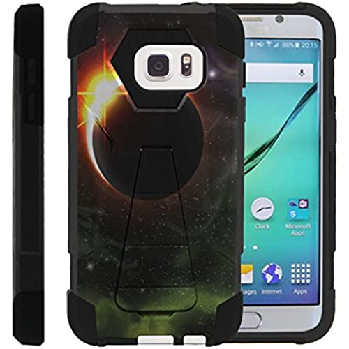 Galaxy S7, Dual Layer Armor Cover SHOCK High Impact with Built In Kickstand Case with Galaxy Designs Samsung S7 by Miniturtle - Eclipse of Sun Sales