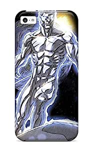 Hot Tpu Cover Case For Iphone/ 5c Case Cover Skin - Silver Surfer