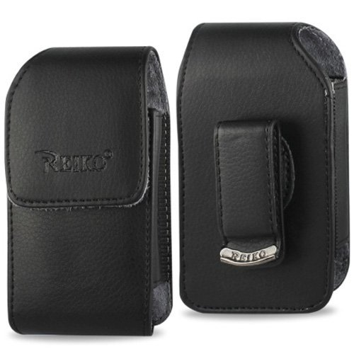 Vertical Leather Case with Magnetic closure with belt clip for AT&T Alcatel Cingular Flip 2