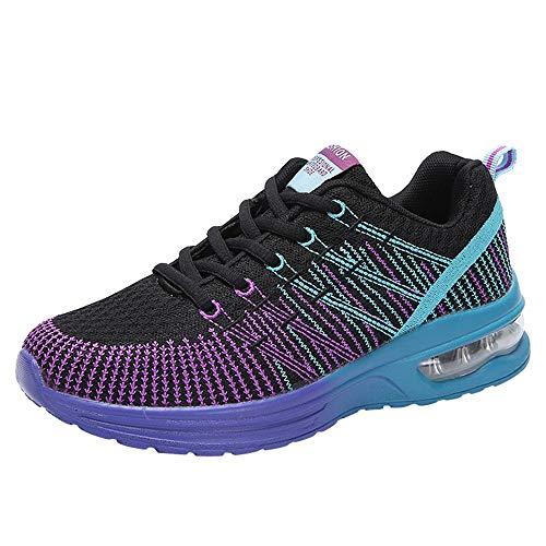 De Estudiante Zapatillas Gimnasia Zapatos Deporte Deportivas Morado Net 861 Volar Cojines Running 41 Aire Mujer Con Logobeing Sneakers Calzado Para 35 Tejidos v5qadv