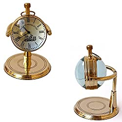 Collectibles Buy Brass Table Clock vintage marine Shiny Classic Clock Handmade design