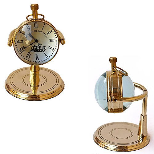 Collectibles Buy Brass Table Clock vintage marine Shiny Classic Clock Handmade design