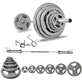 BodyRip Set Of 100Kg Tri Grip Olympic Weight - Includes 5FT Olympic Barbell Collars & Weights