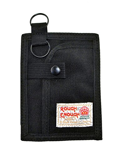 rough-enough-casual-keyholder-credit-card-coin-case-holder-with-2-zip-pockets-safety-black