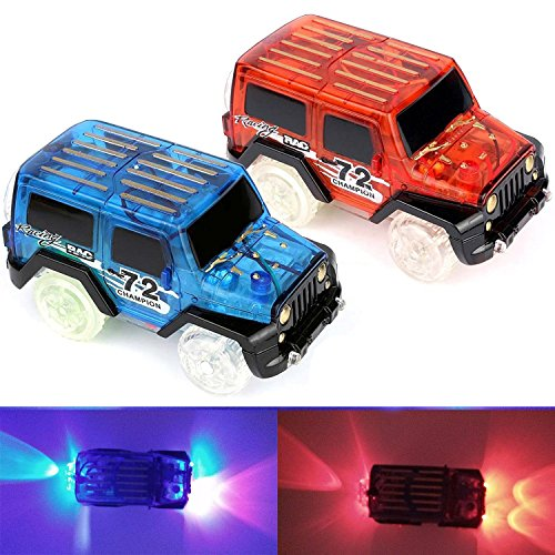 Race Track Car for Glow In The Dark Track 2pcs 1 Pack For Boy Age 3 Gift Christmas by Bestjack