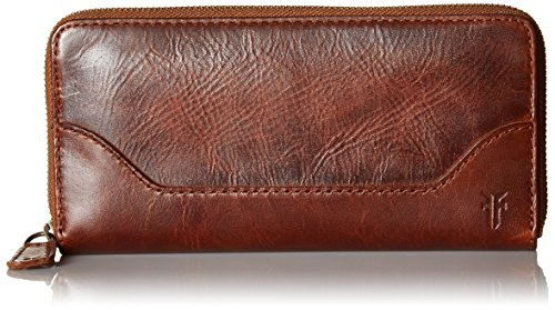 FRYE Women's Melissa Zip Wallet, Cognac, One Size ()
