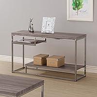 Coaster 703729 Home Furnishings Sofa Table, Weathered Grey/Black Nickel
