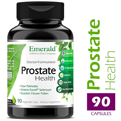 Prostate Health – with Saw Palmetto Extract, Beta Sitosterol Lycopene – Supports Healthy Urination, May Help Block DHT, Bladder Discomfort Relief – Emerald Laboratories – 90 Vegetable Capsules