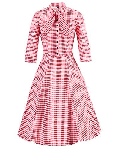 Vintage loves retro womens vintage dresses vintage swing dresses uk RED S (Fancy Dress Uk)