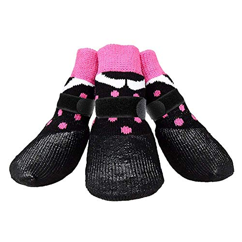 abcGoodefg Pet Dog Socks Dog Boots Shoes Puppy Waterproof Nonslip Sports Socks Shoes Boots for Dog Rubber Sole Paw Protection for Small Medium Large Pet Dog.