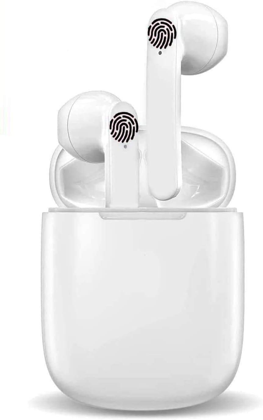Auriculares Bluetooth Auriculares inalámbricos IPx5 a Prueba de Sudor Auriculares 3D estéreo a Prueba de Agua Toque Deportivos Funciona Compatible con Android/iPhone/Samsung/Huawei