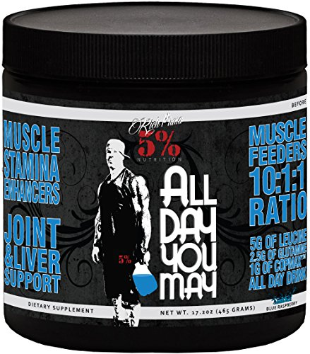 Rich Piana 5% Nutrition ALLDAYYOUMAY Growth and Full Body Recovery / Blue Raspberry 30 Servings 465g