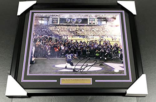 Signed Ray Lewis Photograph - Last Dance Framed 16x20 Coa - JSA Certified - Autographed NFL -