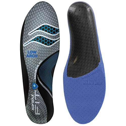 Sof Sole Insoles Unisex FIT Support Full-Length Foam Shoe Insert, Men's 9-10, Low (Sof Sole Stability Insole)
