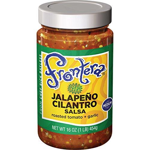 Medium Jalapeno - FRONTERA Gourmet Mexican Jalapeño Cilantro Salsa, Medium, 16 oz.