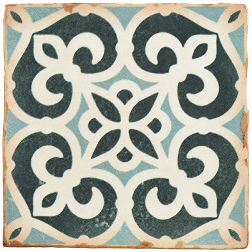 SomerTile 4.875x4.875-inch Chronicle Bakula Ceramic Floor and Wall Tile (Case of 32)
