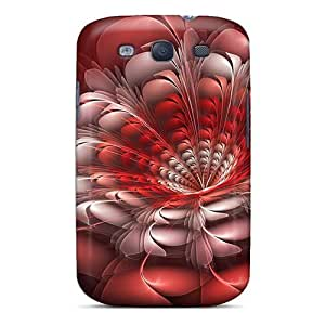 Galaxy Cover Case - Red White Feather Protective Case Compatibel With Galaxy S3