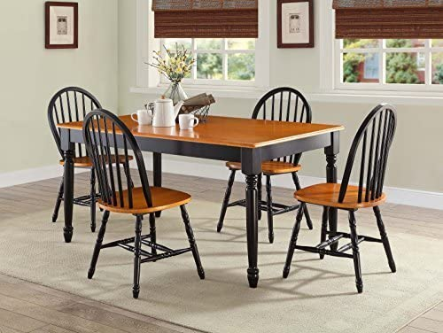 Amazon Com Better Homes And Gardens Autumn Lane Farmhouse Black Oak Dining Table By Better Homes Gardens Tables
