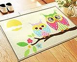 Owl Bathroom Mat Lopkey Doormat Cartoon Animals Cute Owls Print Tapetes Rugs Bath Mat for Children Living Room Bathroom Carpet Mats 23.6