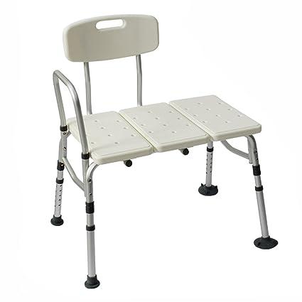 Taburete para bañarse Silla de ducha portátil ajustable de la atención sanitaria de la altura con