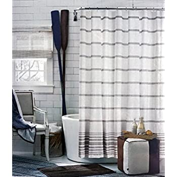 light gray shower curtain. Tommy Hilfiger Fabric Shower Curtain Light Gray Stripes on White  Baja Signature Stripe Amazon com Tan Paisley