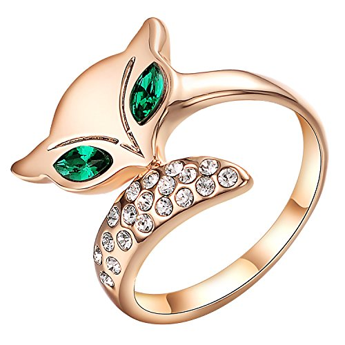 Yoursfs Emerald Engagement Ring 18k Rose Gold - 5