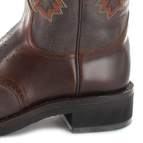 Sendra Boots 5357 Tang Teak / Dames En Heren Western Rijlaarzen Bruine Chocolade Zeepaardje