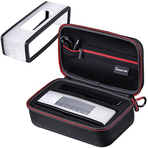 [SoundLink Mini Case + Soft Cover] Smatree Hard Travel Carrying Case Compatible with Black Soft Cover for Bose Soundlink Mini I and Mini II Speaker